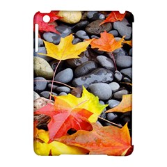 Colorful Leaves Stones Apple Ipad Mini Hardshell Case (compatible With Smart Cover) by AnjaniArt