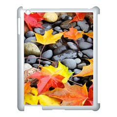 Colorful Leaves Stones Apple Ipad 3/4 Case (white) by AnjaniArt