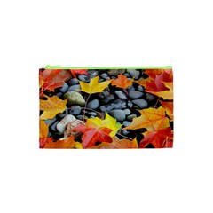 Colorful Leaves Stones Cosmetic Bag (xs) by AnjaniArt