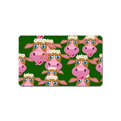 Cow Pattern Magnet (name Card) by AnjaniArt