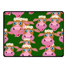 Cow Pattern Double Sided Fleece Blanket (small)