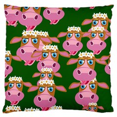 Cow Pattern Standard Flano Cushion Case (one Side)