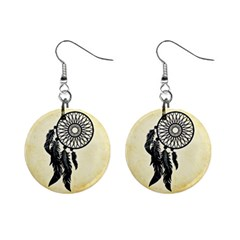 Dream Catcher Mini Button Earrings