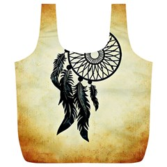 Dream Catcher Full Print Recycle Bags (l)  by AnjaniArt