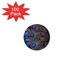 Feathers Peacock Light 1  Mini Buttons (100 Pack)