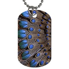 Feathers Peacock Light Dog Tag (two Sides) by AnjaniArt