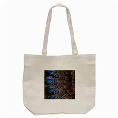 Feathers Peacock Light Tote Bag (cream)