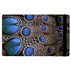 Feathers Peacock Light Apple Ipad 2 Flip Case