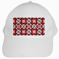 Floral Optical Illusion White Cap by AnjaniArt