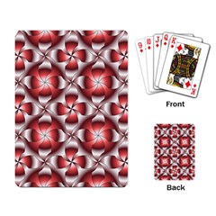 Floral Optical Illusion Playing Card by AnjaniArt