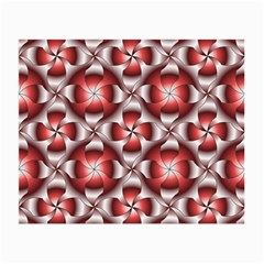 Floral Optical Illusion Small Glasses Cloth (2 Side) by AnjaniArt