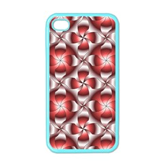 Floral Optical Illusion Apple Iphone 4 Case (color)