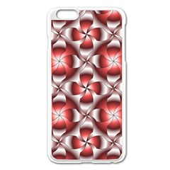 Floral Optical Illusion Apple Iphone 6 Plus/6s Plus Enamel White Case