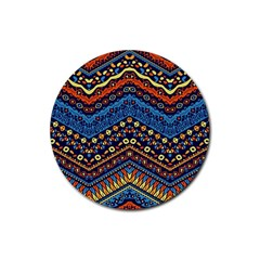 Cute Hand Drawn Ethnic Pattern Rubber Coaster (round)
