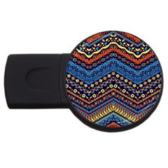 Cute Hand Drawn Ethnic Pattern Usb Flash Drive Round (2 Gb)  by AnjaniArt