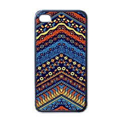 Cute Hand Drawn Ethnic Pattern Apple Iphone 4 Case (black)