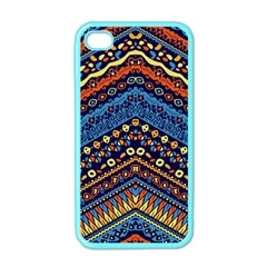 Cute Hand Drawn Ethnic Pattern Apple Iphone 4 Case (color)