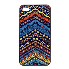 Cute Hand Drawn Ethnic Pattern Apple Iphone 4/4s Seamless Case (black) by AnjaniArt