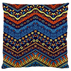 Cute Hand Drawn Ethnic Pattern Large Cushion Case (two Sides) by AnjaniArt