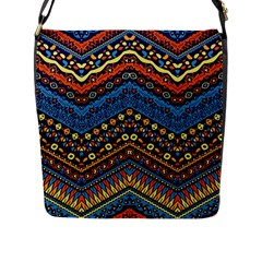 Cute Hand Drawn Ethnic Pattern Flap Messenger Bag (l)