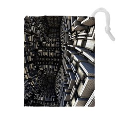 Fractal Art Pattern Drawstring Pouches (extra Large)
