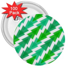 Geometric Art Pattern 3  Buttons (100 Pack)