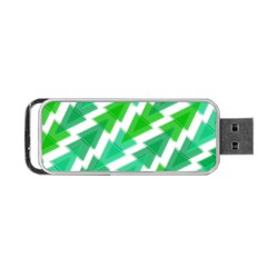 Geometric Art Pattern Portable Usb Flash (two Sides) by AnjaniArt