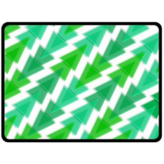 Geometric Art Pattern Double Sided Fleece Blanket (large)