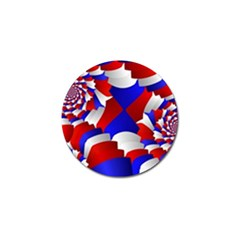 Happy Memorial Day Golf Ball Marker (4 Pack) by AnjaniArt