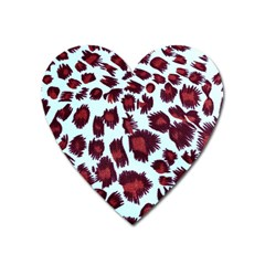 Jaguar Textile Background Heart Magnet by AnjaniArt