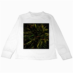 Magic Art Particle Texture Kids Long Sleeve T Shirts by AnjaniArt