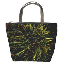 Magic Art Particle Texture Bucket Bags by AnjaniArt