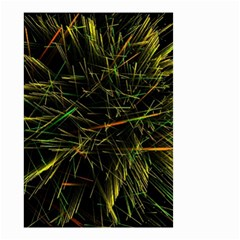 Magic Art Particle Texture Small Garden Flag (two Sides) by AnjaniArt