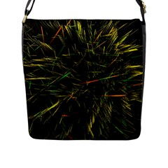 Magic Art Particle Texture Flap Messenger Bag (l)  by AnjaniArt