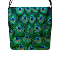 Peacock Feather Flap Messenger Bag (l)