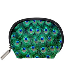Peacock Feather Accessory Pouches (small)  by AnjaniArt