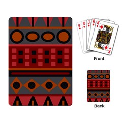 Red Aztec Playing Card by AnjaniArt