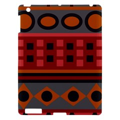 Red Aztec Apple Ipad 3/4 Hardshell Case by AnjaniArt