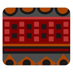 Red Aztec Double Sided Flano Blanket (small)
