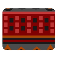 Red Aztec Double Sided Flano Blanket (large)