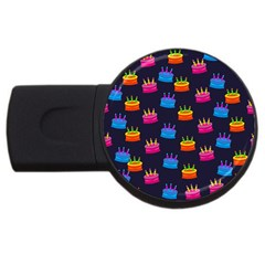 Seamless Tile Repeat Pattern Usb Flash Drive Round (4 Gb)