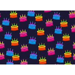 Seamless Tile Repeat Pattern Birthday Cake 3d Greeting Card (7x5) by AnjaniArt