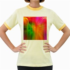 Texture Background Women s Fitted Ringer T Shirts by AnjaniArt