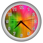 Texture Background Wall Clocks (Silver)  Front