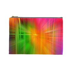 Texture Background Cosmetic Bag (large)  by AnjaniArt