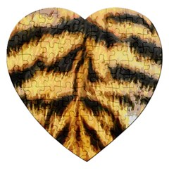 Tiger Fur Painting Jigsaw Puzzle (heart) by AnjaniArt