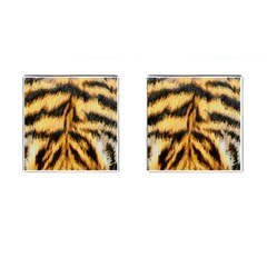 Tiger Fur Painting Cufflinks (square)