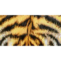 Tiger Fur Painting You Are Invited 3d Greeting Card (8x4) by AnjaniArt
