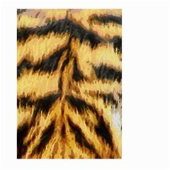 Tiger Fur Painting Large Garden Flag (two Sides) by AnjaniArt