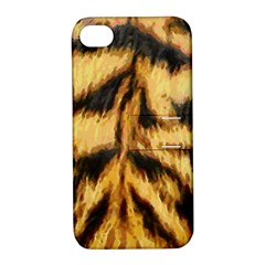 Tiger Fur Painting Apple Iphone 4/4s Hardshell Case With Stand by AnjaniArt